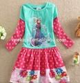 Adorable partido vestidos de niña, elsa congelado vestido para niña 3 años