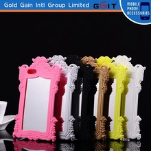Silicone Mobile Phone Protector Case For iphone 5S with mirror pattern