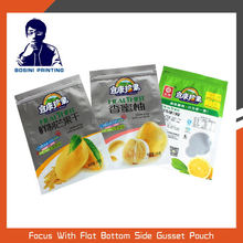 Zipper lock heat seal plastic food packaging bag