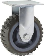 125mm heavy duty PU fixed caster, caster wheel