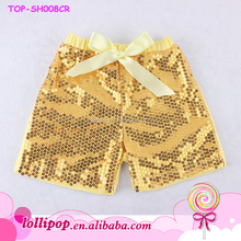 2015 summer new arrival wholesale spandex gold sequin girl shorts