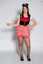 De Halloween sexy mujeres del vestido de lujo Carnival costume Party sexy adulto del ratón
