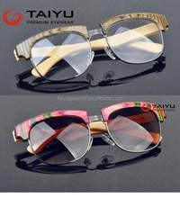 fashion wood sunglasses wood optical frame bamboo temple 2226