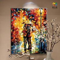 abstract woman oil painting custom paint by number 30*40cm