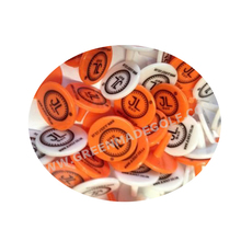 Promotional plastic golf ball marker with chip