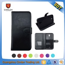 Cell phone book style magnetic wallet leather case for blu studio 7.0 with credit slot and stand
