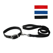 New Padded Nylon Belt Pet Dog Leash Lead Collar Set for Small Medium Breeds