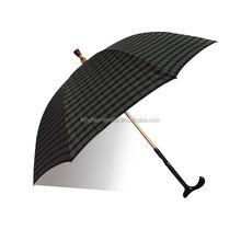 double sided black walking stick umbrella