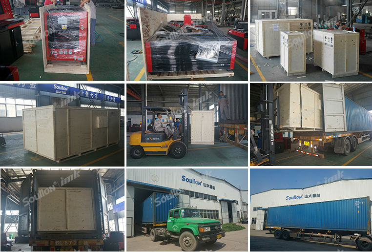 Steel Plate Cutting Machine packing and shipping