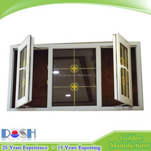 UPVC/PVC opening window elaborate designed structure tight joints test result show the sound insulation with lock