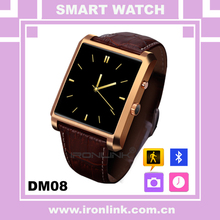 MTK2502 smart watch DM08 bluetooth 4.0 smartwatch compatible with Android iOS support sleep monitor anti-lost