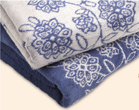 """Alibaba China Home Designs """"Blue and White Porcelain"""" Design Jacquard Cotton Towel for Home"""