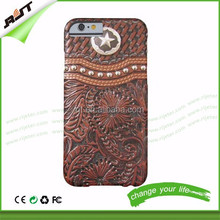 Personality Vintage Western Brown and Silver Barely hard PC phone case factory price anti-scratch for iphone 6 / iphone 6 plus