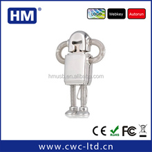 custom design promotion gift logo solution robot usb with high speed