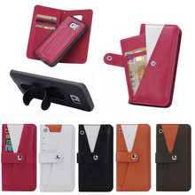 New design Detachable Leather Case for samsung galaxy s6 edge, for Samsung s6 edge case TPU With Spring Stand