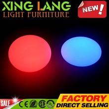 unique transparent composite PE plastic RGB color change waterproof LED lounge flat ball with remote control