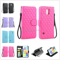 Flip PU Leather Wallet Stand Hybrid With Strap Case Cover For Samsung Galaxy S5 i9600