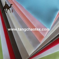 RPET ecological fabric for cloth lining/recycled plastic polyester high density taffeta fabric for lining