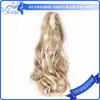 Hot sale cheap synthetic hair ponytail expression hair piece, fashion asian hair pieces, fishnet hair piece