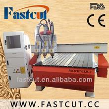 China de Jinan máquina de grabado de madera del torno del freno venta FASTCUT-1325
