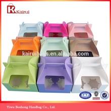 China factory wholesale paper cupcake box