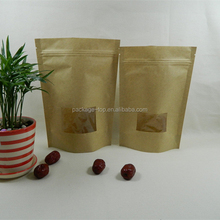 Custom Foldable take-out kraft paper bag for hot waffle peanut butter