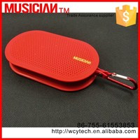 Best ABS and aluminiual alloy case mini portable speaker with SD card slot
