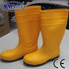 nmsafety econômica industrial pvc botas botas de plástico de cor amarela