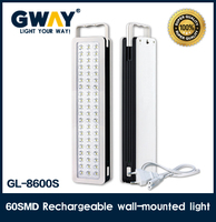 NEW ABS plastic housing 60pcs of 2835SMD rechargeable super brightness emergency light led lanterns