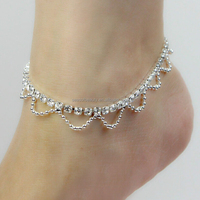Barefoot Sandals, 888 Stones Anklet Chain, Foot Rhinestone Jewelry Ankle Bracelet