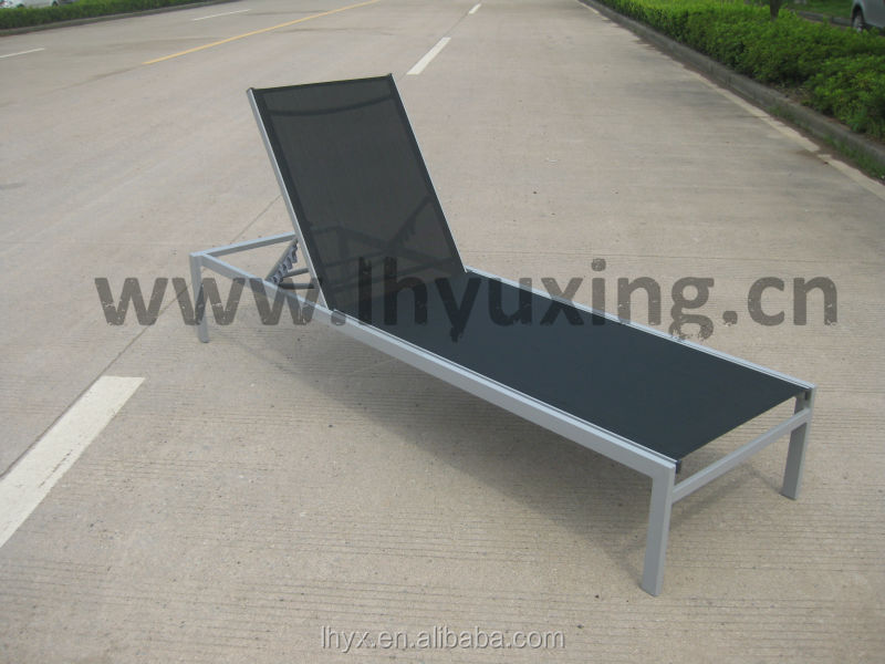 Steel beach sun loungers chaise longue metal frame french for Chaise longue frame