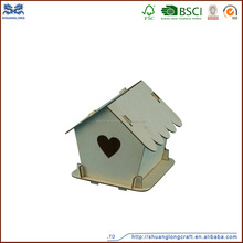 2015 hot selling christmas handmade carved wooden crafts bird house light house