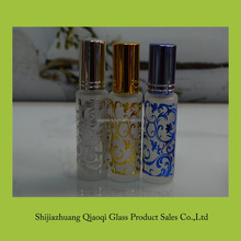 10ml gold stamping perfume refill bottle glass