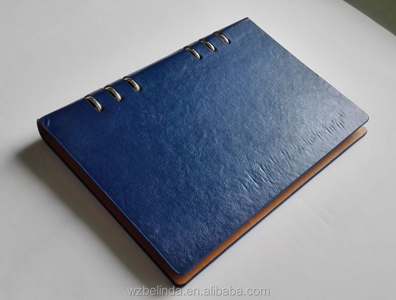 A5 Custom Handmade Pu Leather Diary Journal Ring Binder Planner Notebook Buy From China   Buy A5
