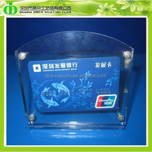 DDM-0017 ISO9001 Chinese Manufacture Produce Clear Acrylic Credit Card Display
