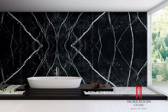 Spain Black Marquina Marble Slab (3).jpg