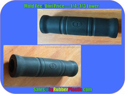 Compression Molded Ergonomic Rubber Grip / Custom Moulded Rubber Handle Bar Grip Cover / High Quality Solid Silicone Grip
