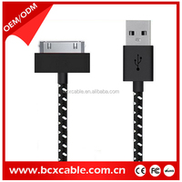 Portable Universal usb charger cable/Wholesale round fabric braided usb charger cable