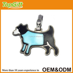 Custom design luggage tag in dog shaped for wholesale