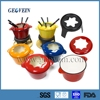 Hot sale cast iron red cookware set with enamel coating