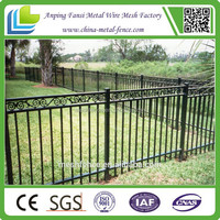 Custom Designed alibaba express Powder Coated Ornamental Wrought Iron Fencing