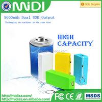 5200 mAh High Capacity portable mobile power bank biyond 5200mah for iPad/iPod/iPhone with Dual USB
