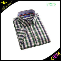Plaid casual stylish fitness shirt for men