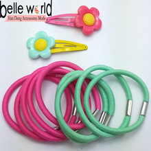 cut flower sanp clips girls hair accessory assortment elastic and hair clips
