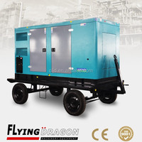 Factory supply 350kva mobile power plant for construction site use 280kw Yuchai portable soundproof generator for sale