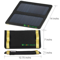 13W bracket solar panel pocket charger for mobile phone camera