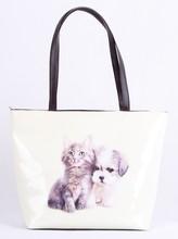 2015 FASHIONABLE LADIES CAT&DOG PU SHOULDER SHOPPING BAG
