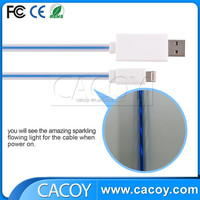 3ft LED light-up sync data USB charging cable for iPhone 5 6