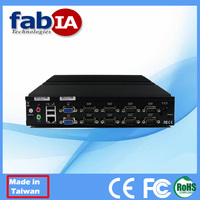 Fanless PC with wifi RS232 RS485 Atom D425 Embedded Box PC
