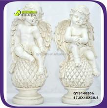 15cm creative white resin angel craft gift